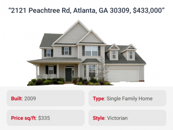 House listing correctly tagged with attributes like type and style by listings attribution for real estate
